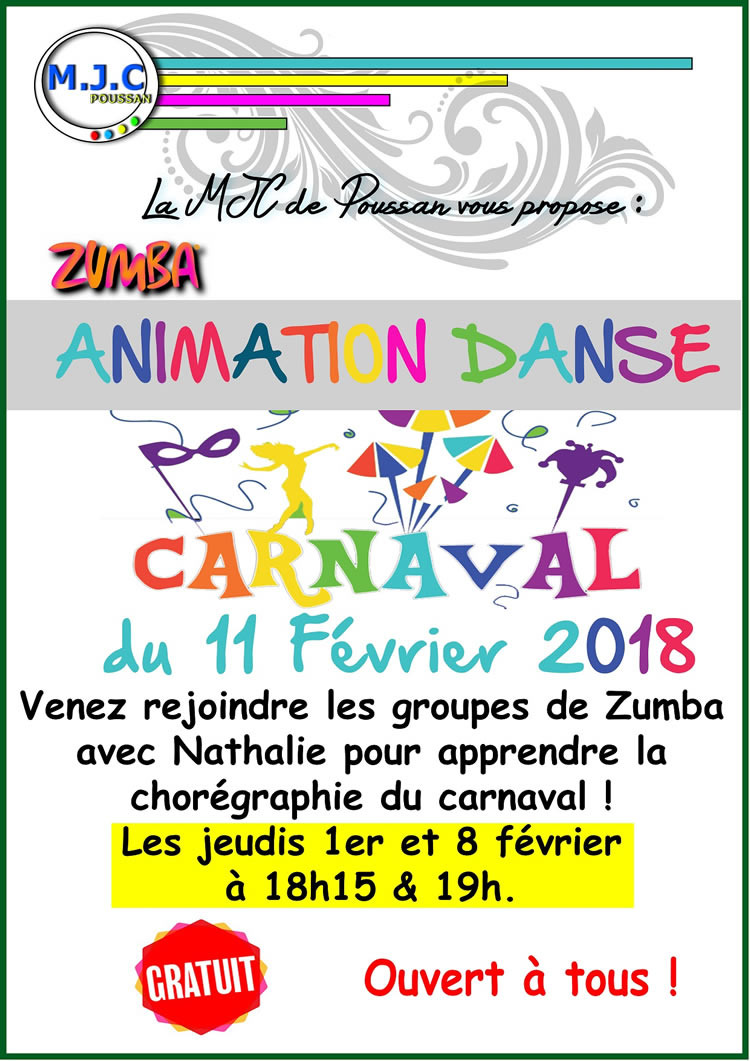 repetition danse zumba carnaval nathalie2018